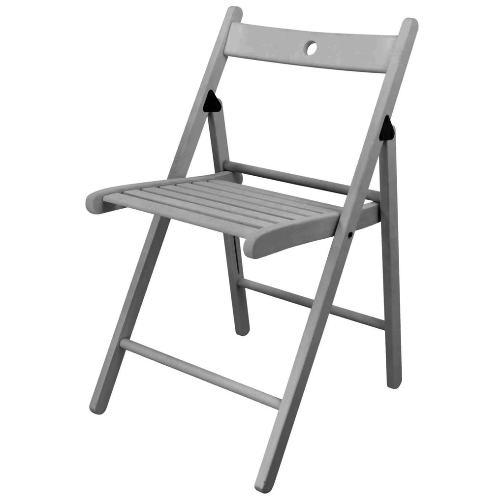 Harbour Housewares Folding Wooden Office Chair - Grey