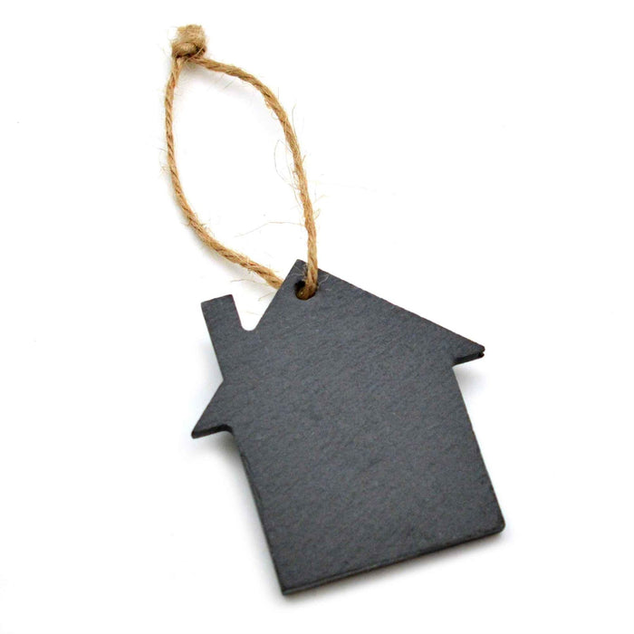 Nicola Spring Christmas Tree Hanging Slate Decoration - House Design