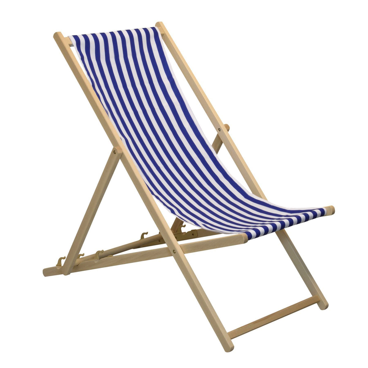 ideal for your garden - the Harbour Housewares Beach Deck Chair  - Blue/White Stripes