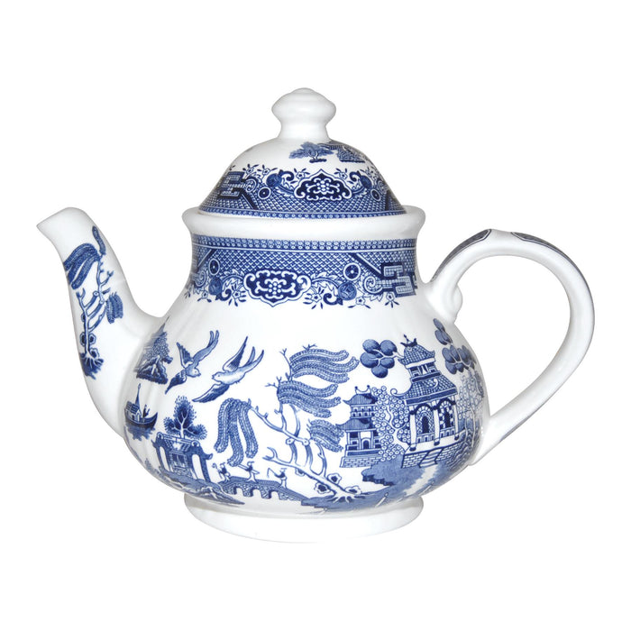 Churchill Blue Willow Georgian Teapot - 1.2 Litre - Blue