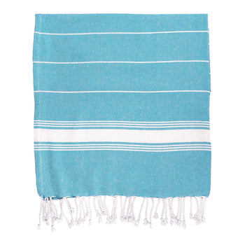 Nicola Spring Turkish Beach Towel - Light Blue