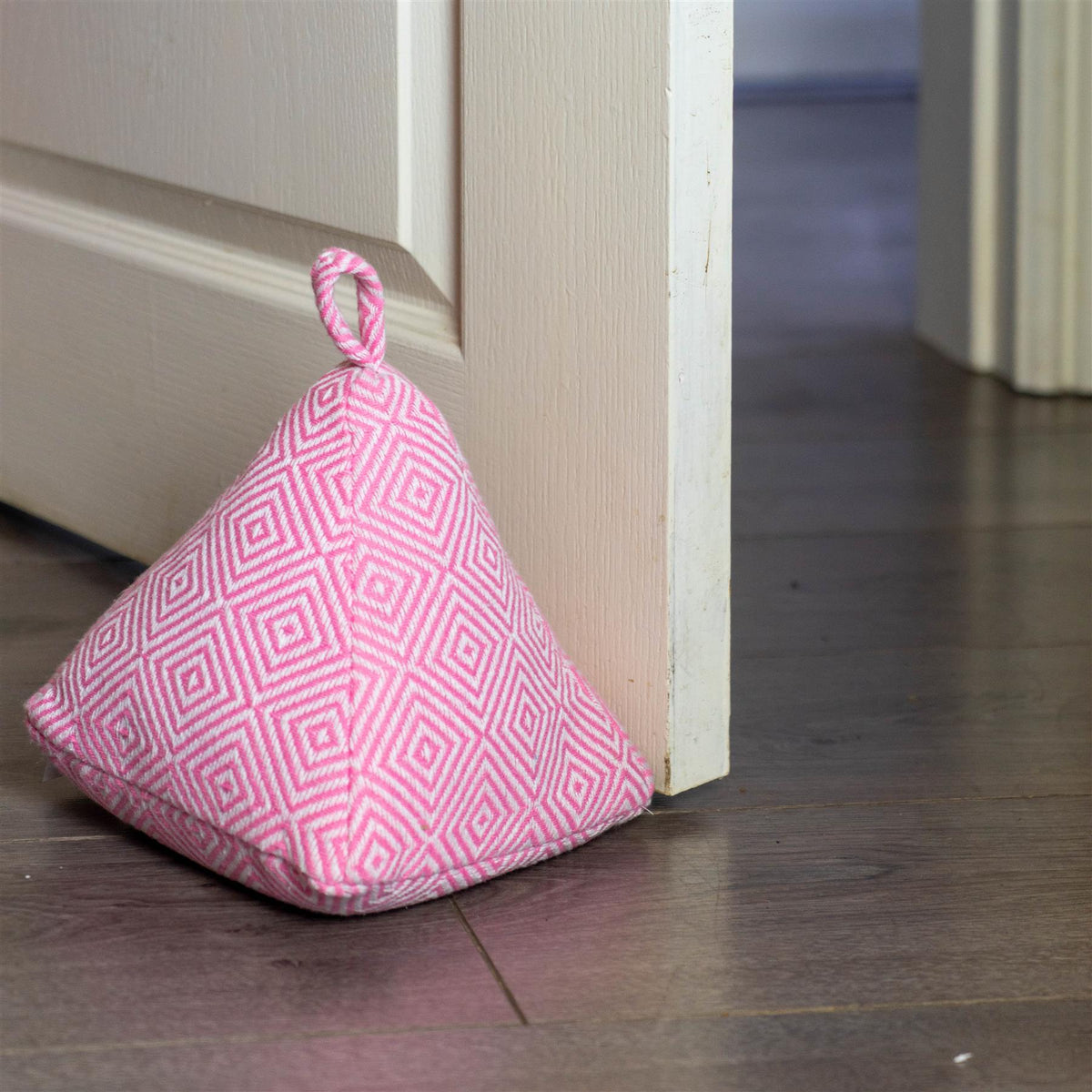 Nicola Spring Decorative Door Stop Pink 20cm Interior Door Lifestyle