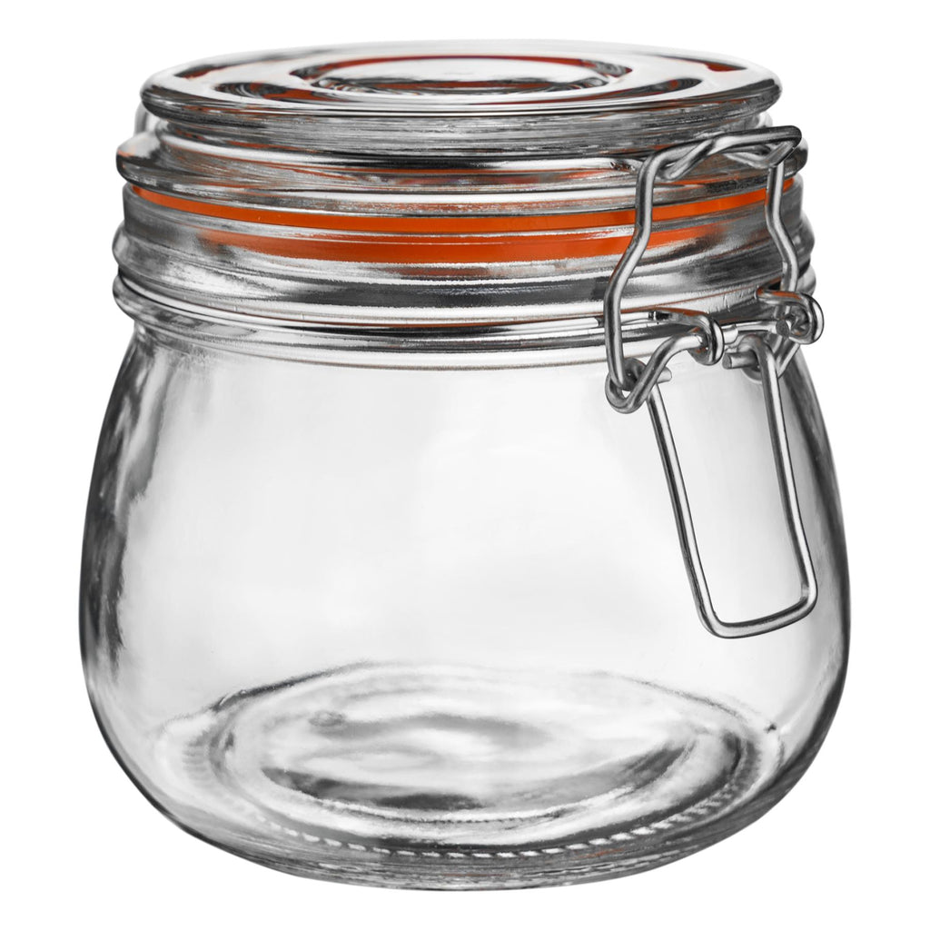Argon Tableware Preserving / Biscuit Glass Storage Jar - 500ml Argon Tableware Preserve Jars