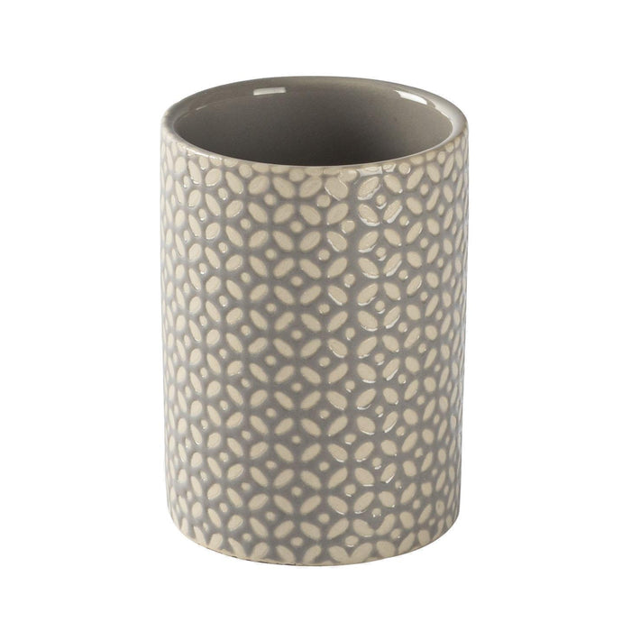 Harbour Housewares Toothbrush Holder - Ceramic - Grey