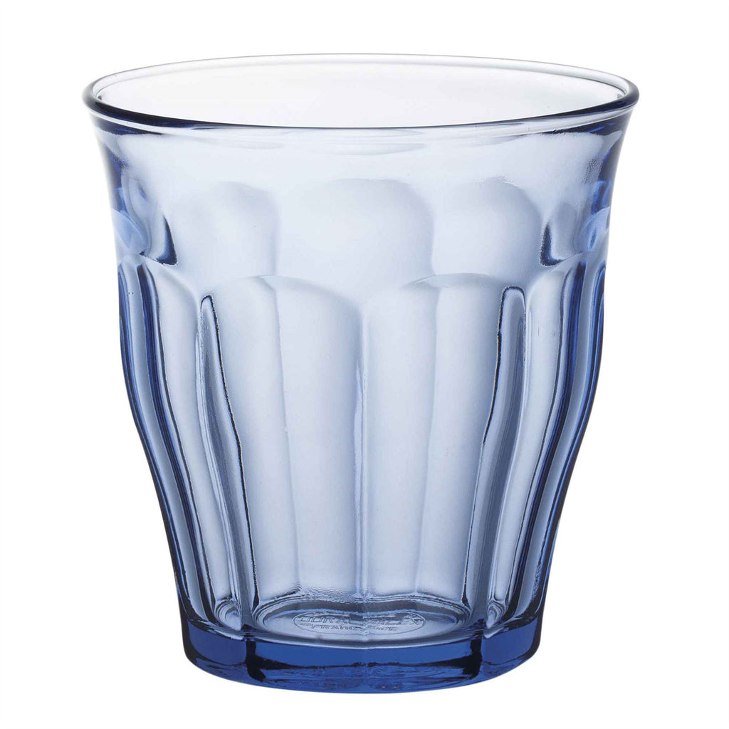 Duralex Picardie Traditional Glass Drinking Tumbler - Blue - 220ml