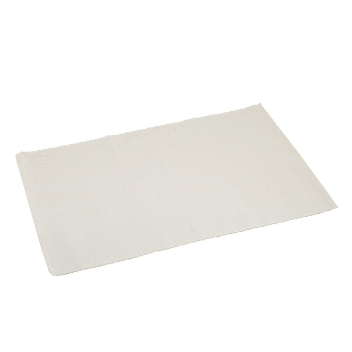 Nicola Spring Ribbed Cotton Dining Table Placemat - Cream