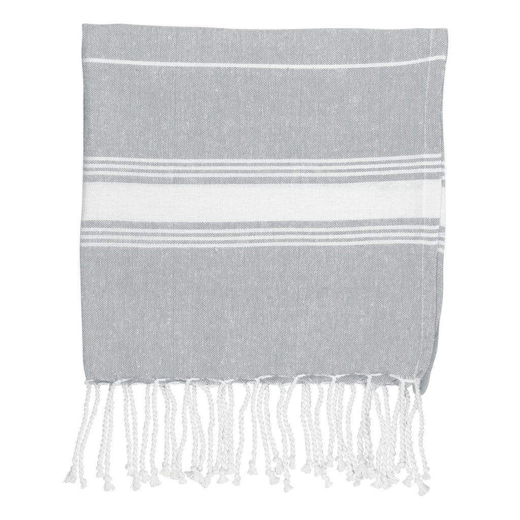 Nicola Spring 100 x 60cm Turkish Cotton Beach Towel - Grey