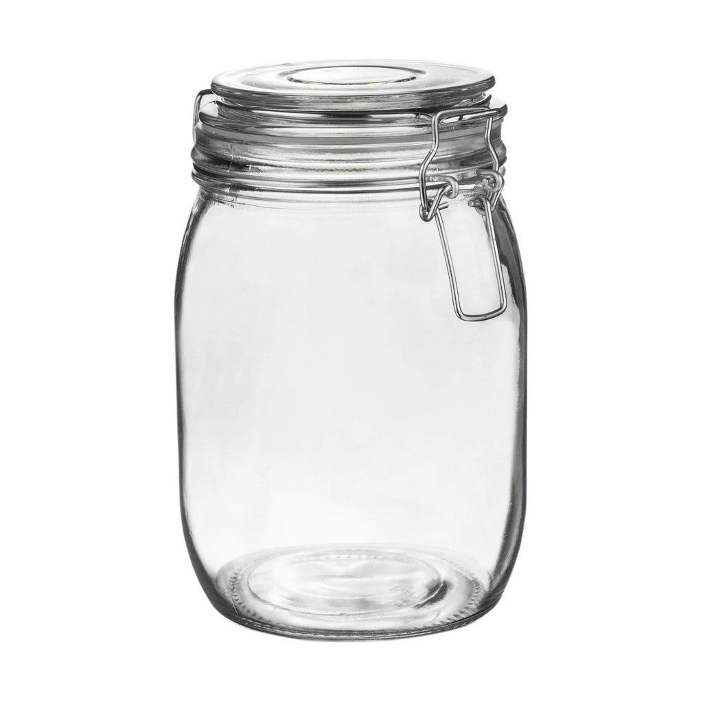Argon Tableware Glass Storage Jar - 1 Litre - Clear Seal