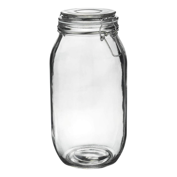 Argon Tableware Glass Storage Jar - 2 Litre - White Seal