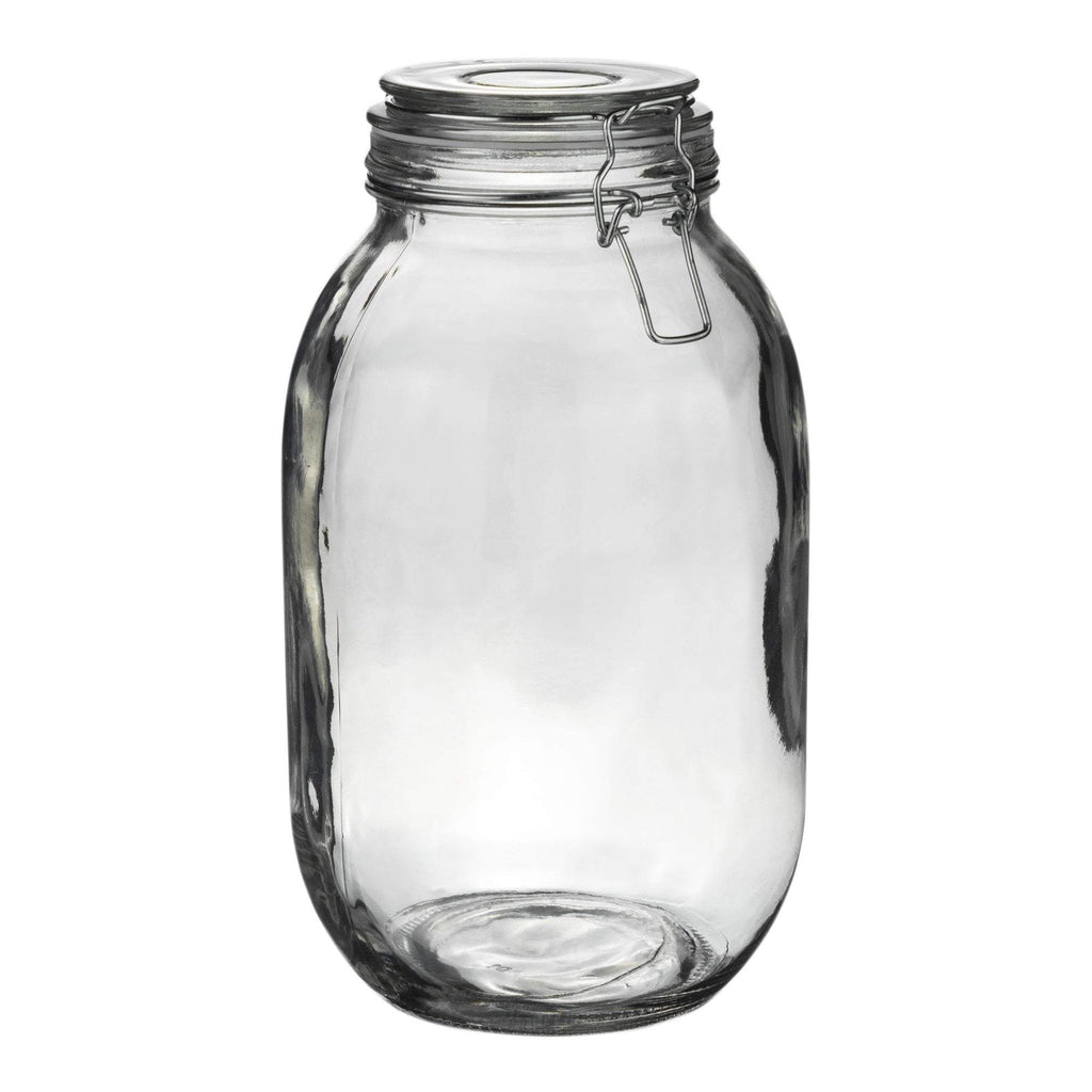 Argon Tableware Glass Storage Jar - 3 Litre - Clear Seal