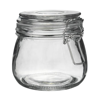 Argon Tableware Glass Storage Jar - 500ml - Clear Seal