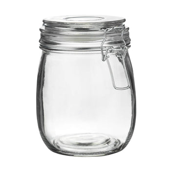 Argon Tableware Glass Storage Jar - 750ml - Clear Seal