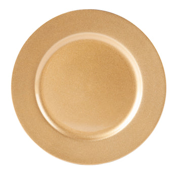 Argon Tableware Single Charger Plate - Decorative Under-plate - 33cm - Gold