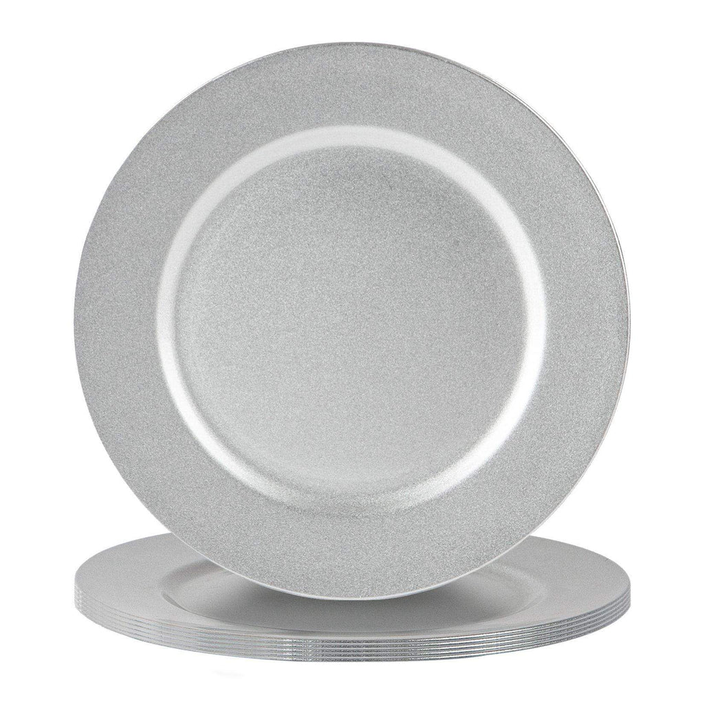 Argon Tableware Single Charger Plate - Decorative Under-plate - 33cm - Silver