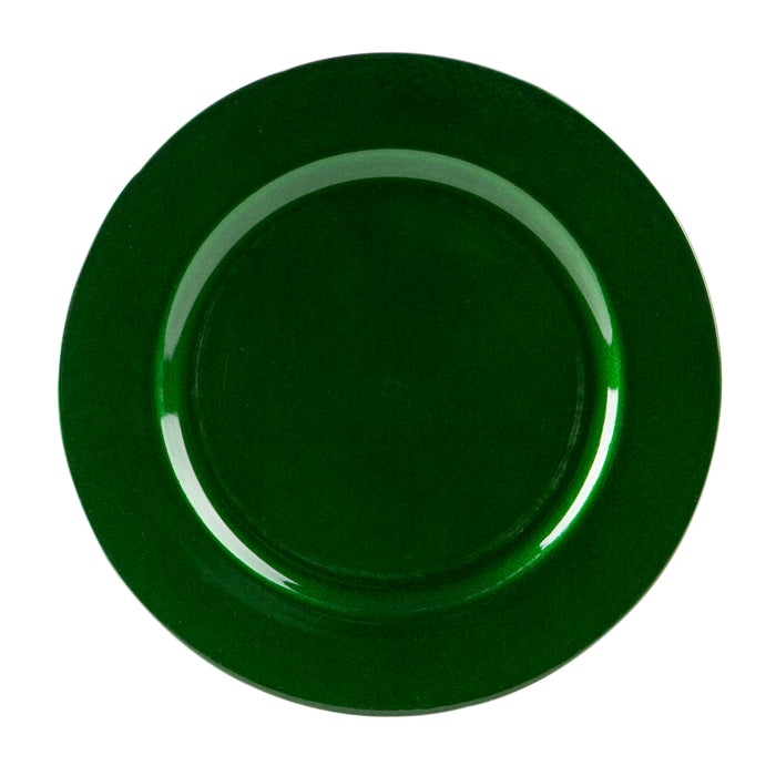 Argon Tableware Metallic Charger Plate - 33cm - Green
