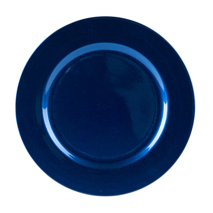Argon Tableware Metallic Charger Plate - 33cm - Blue