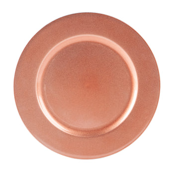 Argon Tableware Single Charger Plate - Decorative Under-plate - 33cm - Rose Gold