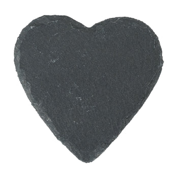 Argon Tableware Heart Shape Natural Slate Drinks Coaster