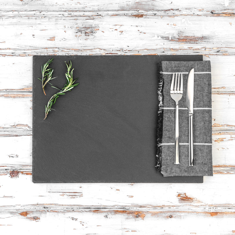 Argon Tableware Rectangular Natural Slate Placemat and Platter