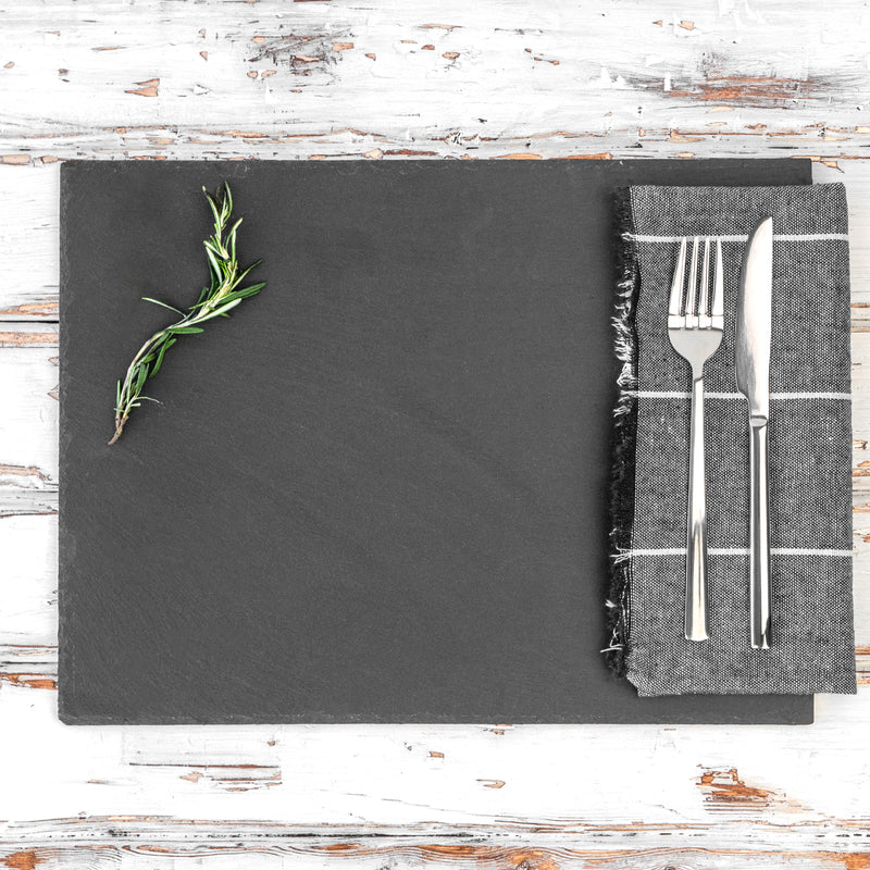 Argon Tableware Rectangular Natural Slate Serving Platter
