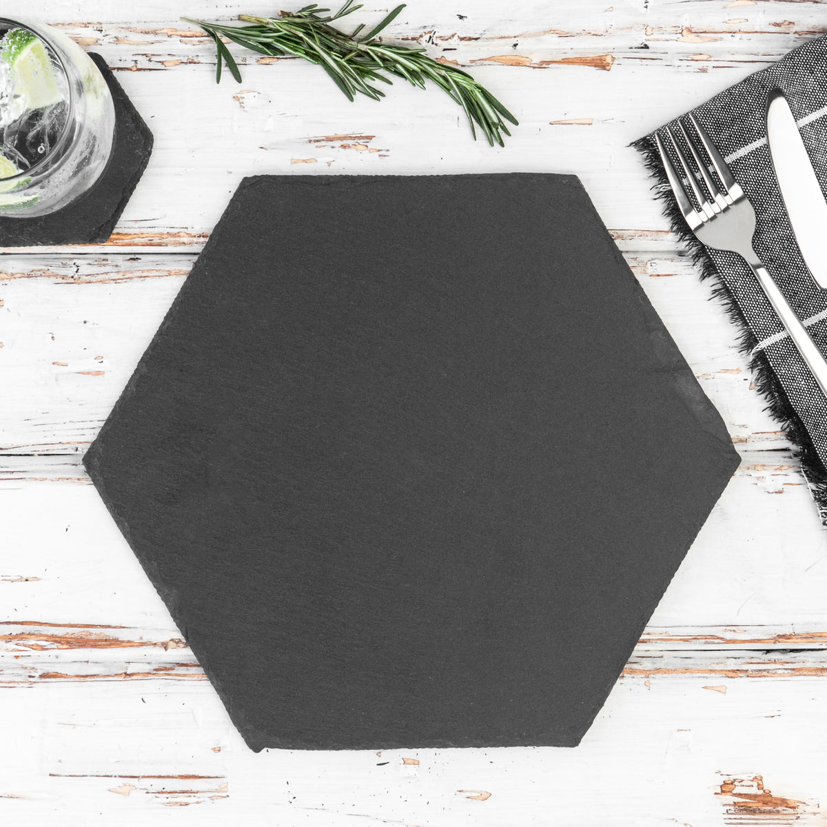 Argon Tableware Hexagon Natural Slate Placemat