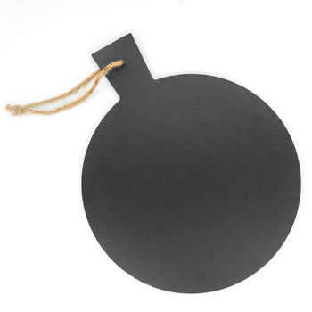 Argon Tableware Rustic Slate Pizza Serving Platter with Rope