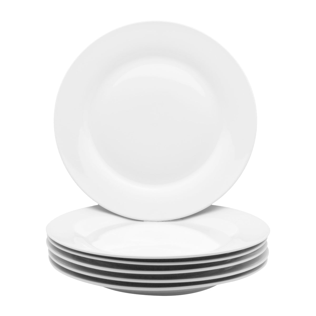 Argon Tableware Classic Wide Rimmed Dinner Plate - 10.5""