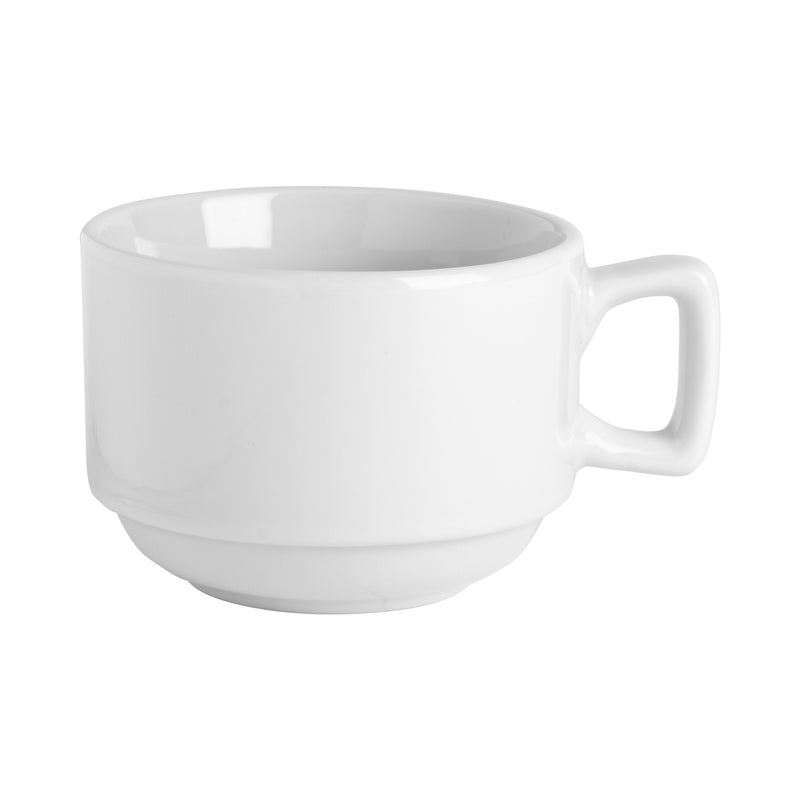 Argon Tableware China Stacking Coffee Mug - 200ml - White