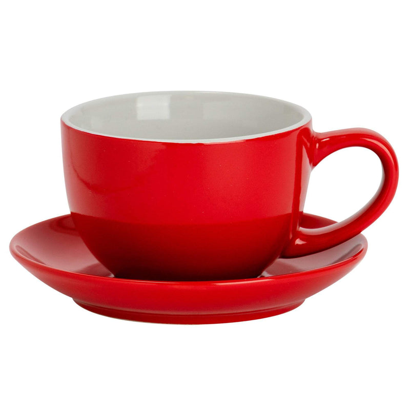 Argon Tableware Coloured Cappuccino Cup - Red - 250ml