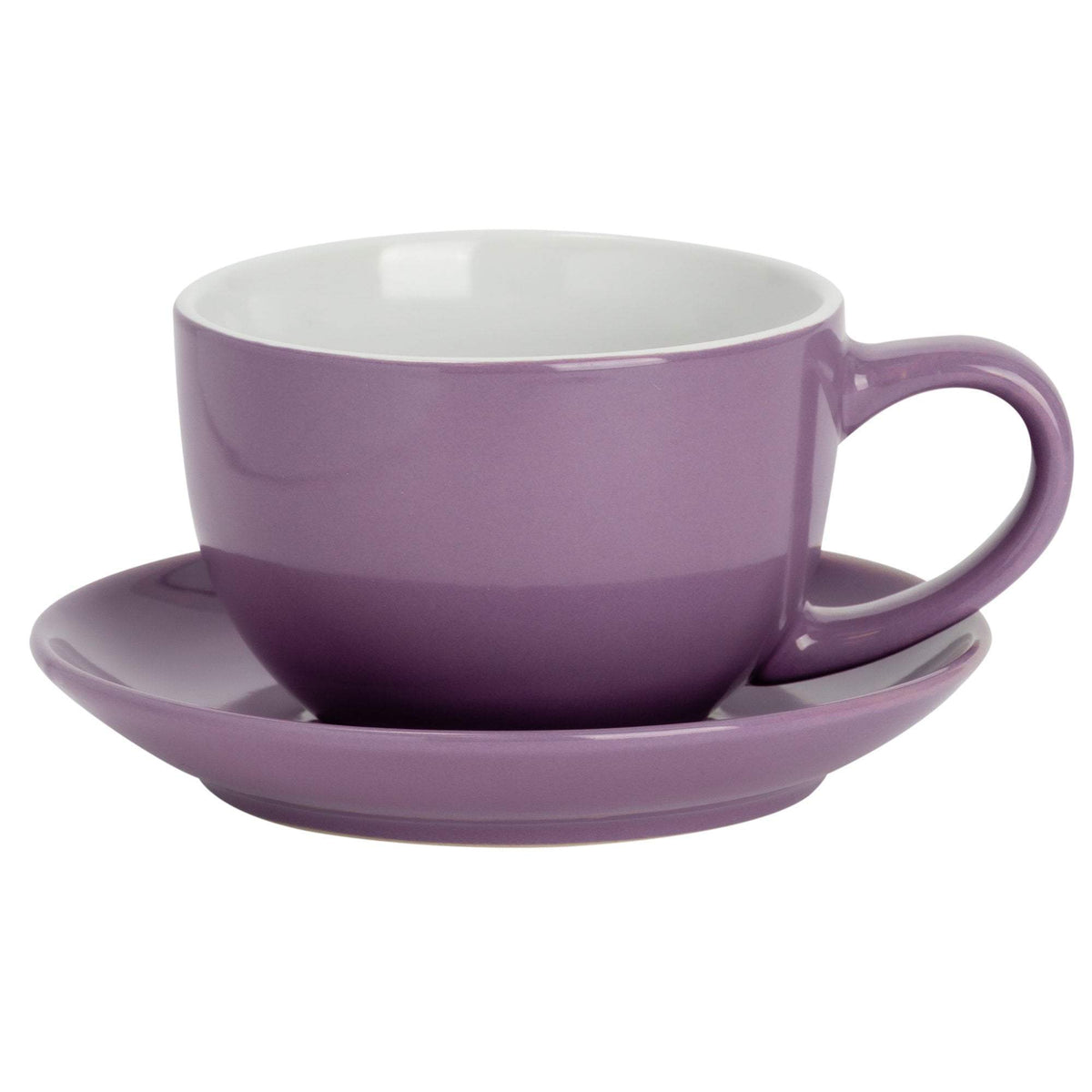 Argon Tableware Coloured Saucer for Cappuccino Cup - Purple - 14cm
