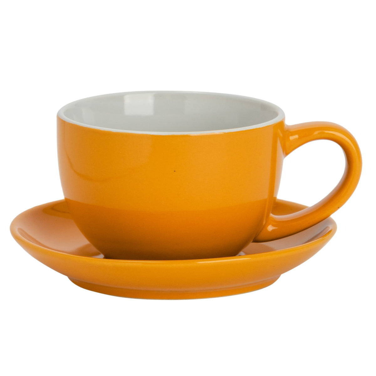 Argon Tableware Coloured Cappuccino Cup - Yellow - 250ml