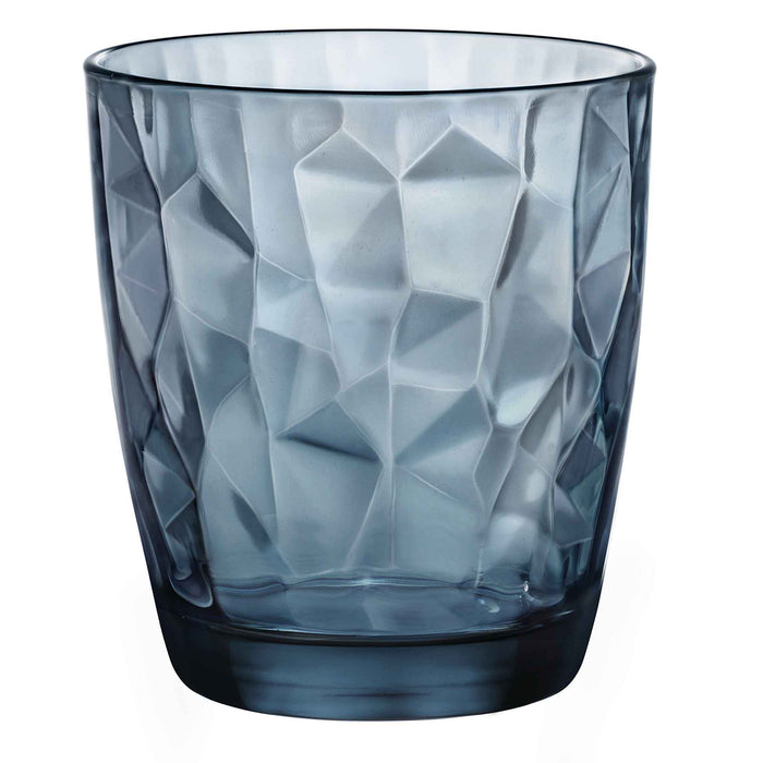 Bormioli Rocco Diamond Whiskey Glass - Blue - 300ml