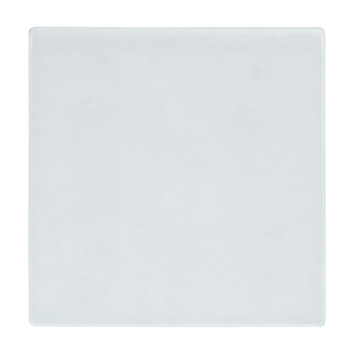 Harbour Housewares Square Glass Coaster - White