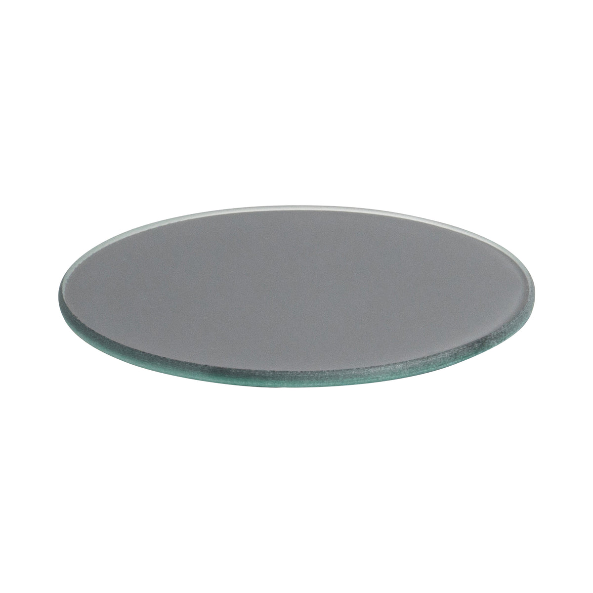 Harbour Housewares Glass Coaster - Round - Grey - 10cm