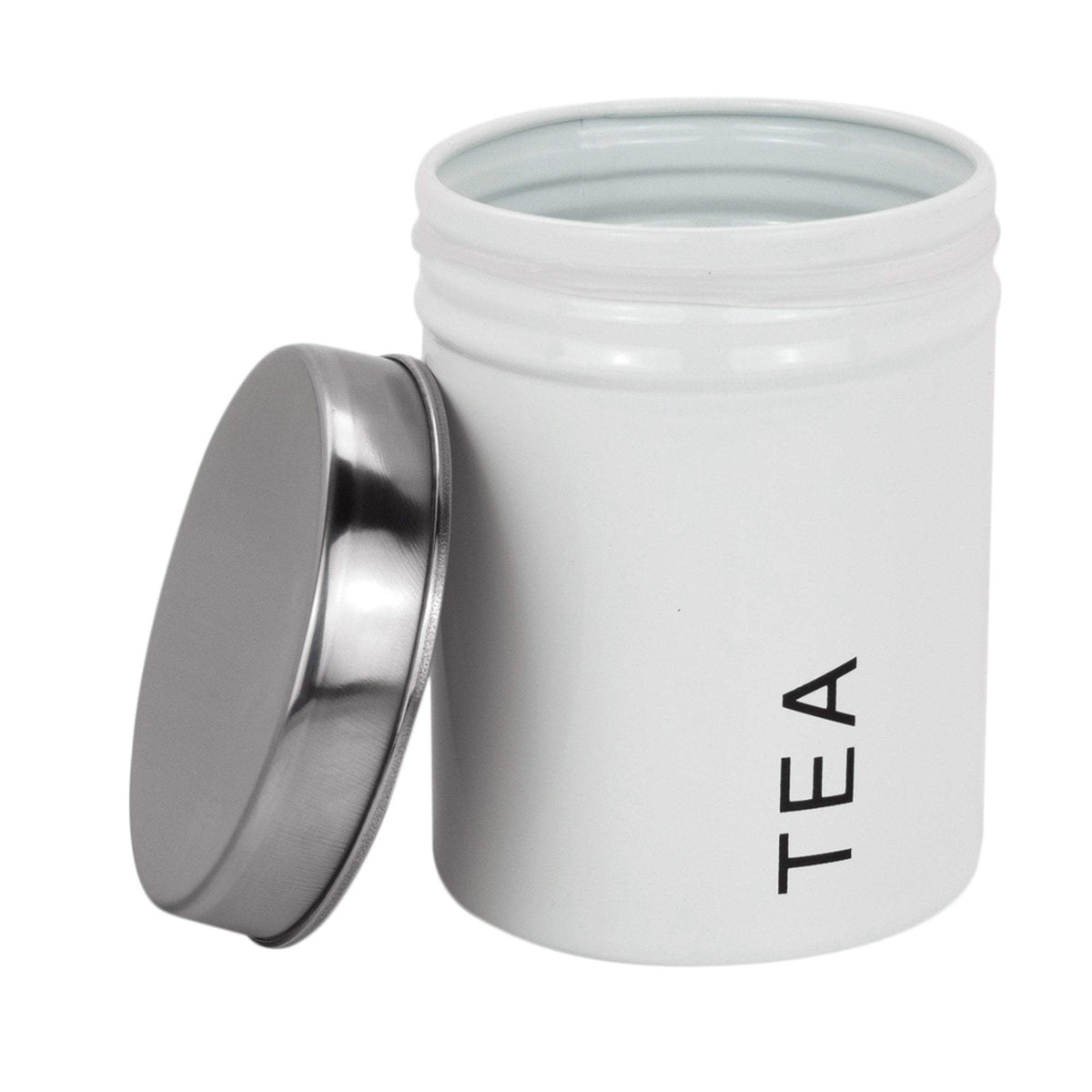white tea coffee sugar canisters