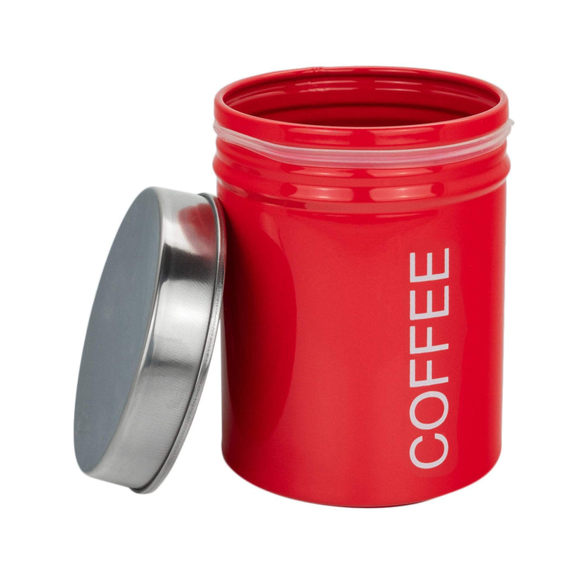 red tea coffee sugar canisters