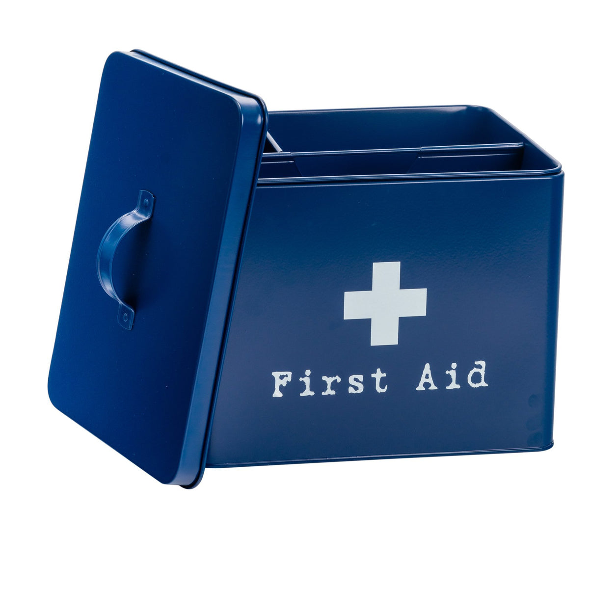 Harbour Housewares Vintage Metal First Aid Medicine Storage Box with Lid