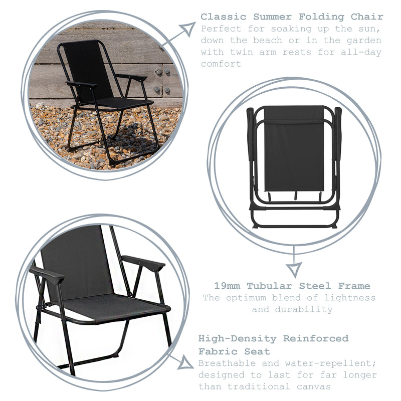 Harbour Housewares Folding Garden Armchair