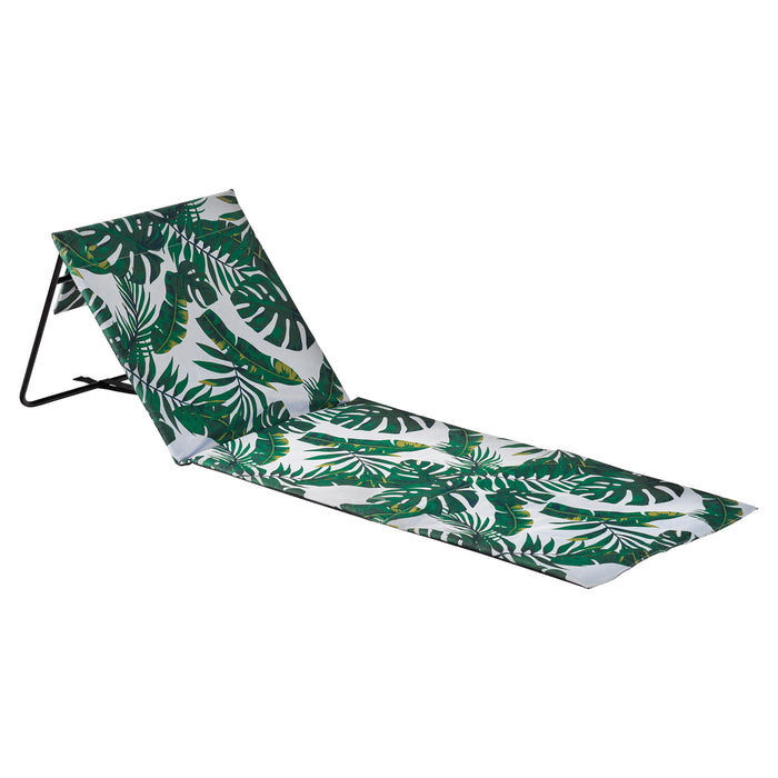 Harbour Housewares Folding Beach Lounger - Banana Leaf