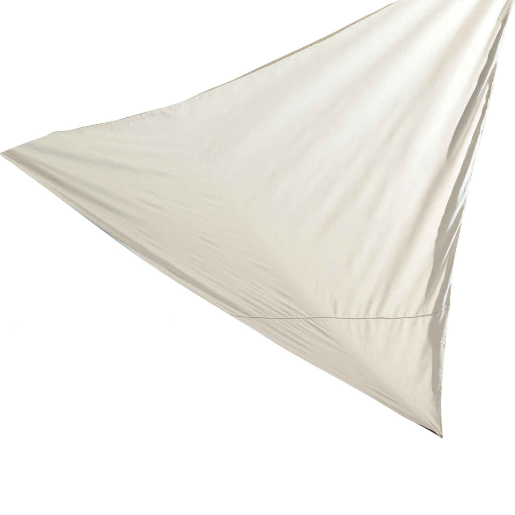 Harbour Housewares Shade Sail Canopy - Triangle Cream