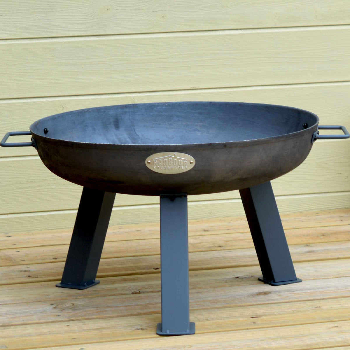 Harbour Housewares Cast Iron Garden Fire Pit Burner - 55.5cm Diameter
