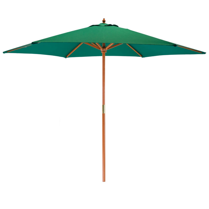 Harbour Housewares Garden Parasol - Wooden Frame - Green