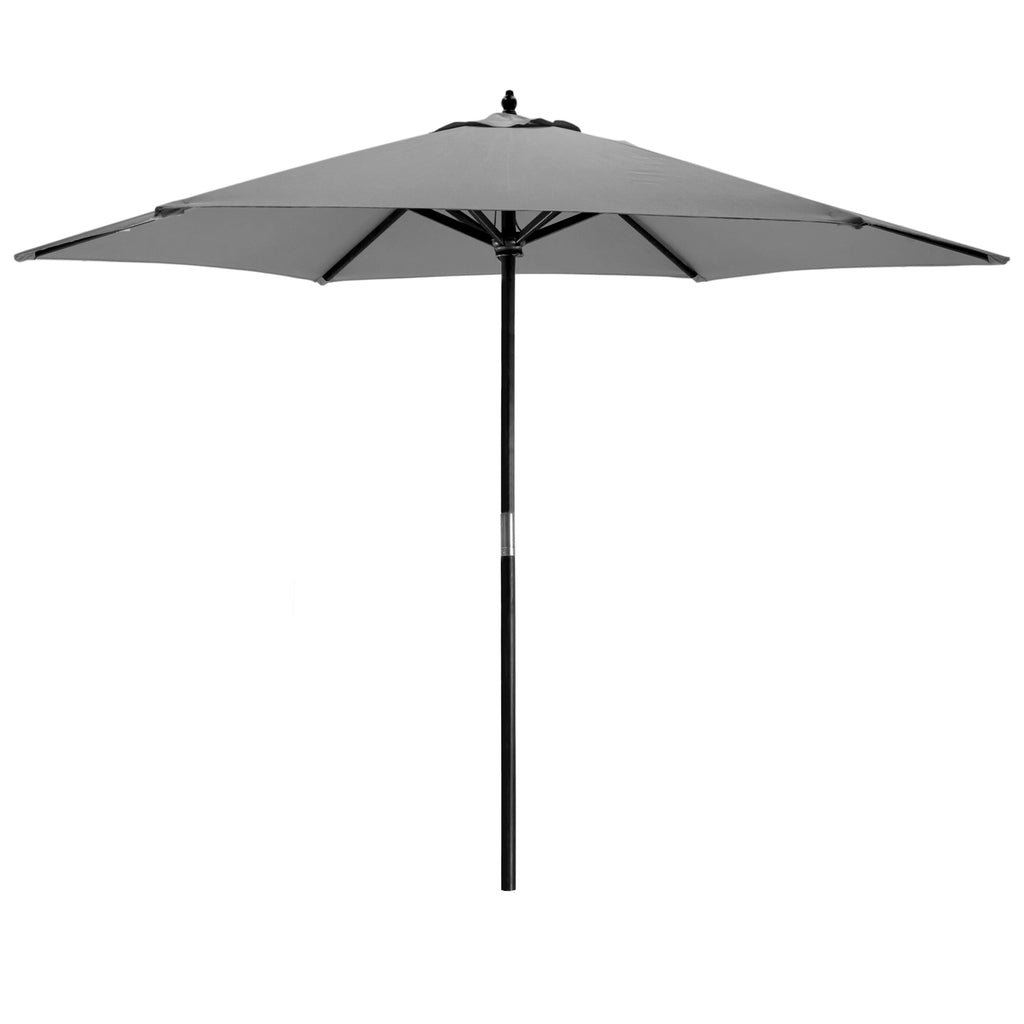 Harbour Housewares Garden Parasol - Wooden Frame - Grey