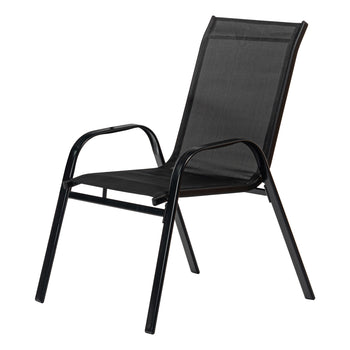 Harbour Housewares Texteline Canvas Garden Chair - Black