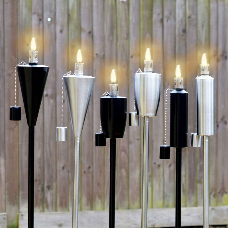 Harbour Housewares Outdoor Fire Torches - Black - Round Design