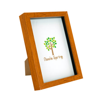 Nicola Spring Acrylic Box Photo Frame - Dark Wood - 6 x 8 (A5)