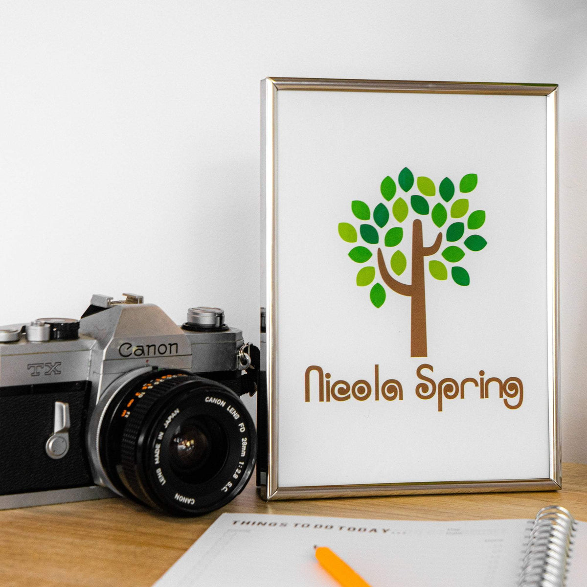 Nicola Spring Metal Photo Frame - 8x10