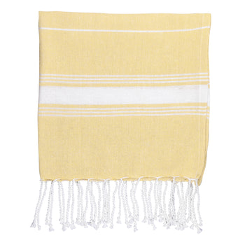 Nicola Spring 100 x 60cm Turkish Cotton Beach Towel - Yellow