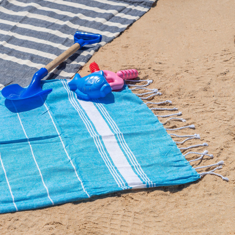 Nicola Spring Kids Turkish Beach Towel - Light Blue