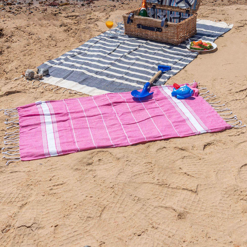 Nicola Spring 100 x 60cm Turkish Cotton Beach Towel - Pink